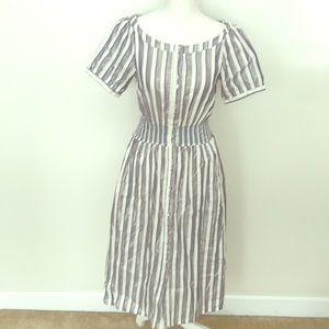 Dresses & Skirts - Anthropologie Striped Midi Dress